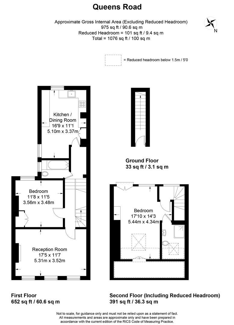 Floorplan for Queens Road, Wimbledon